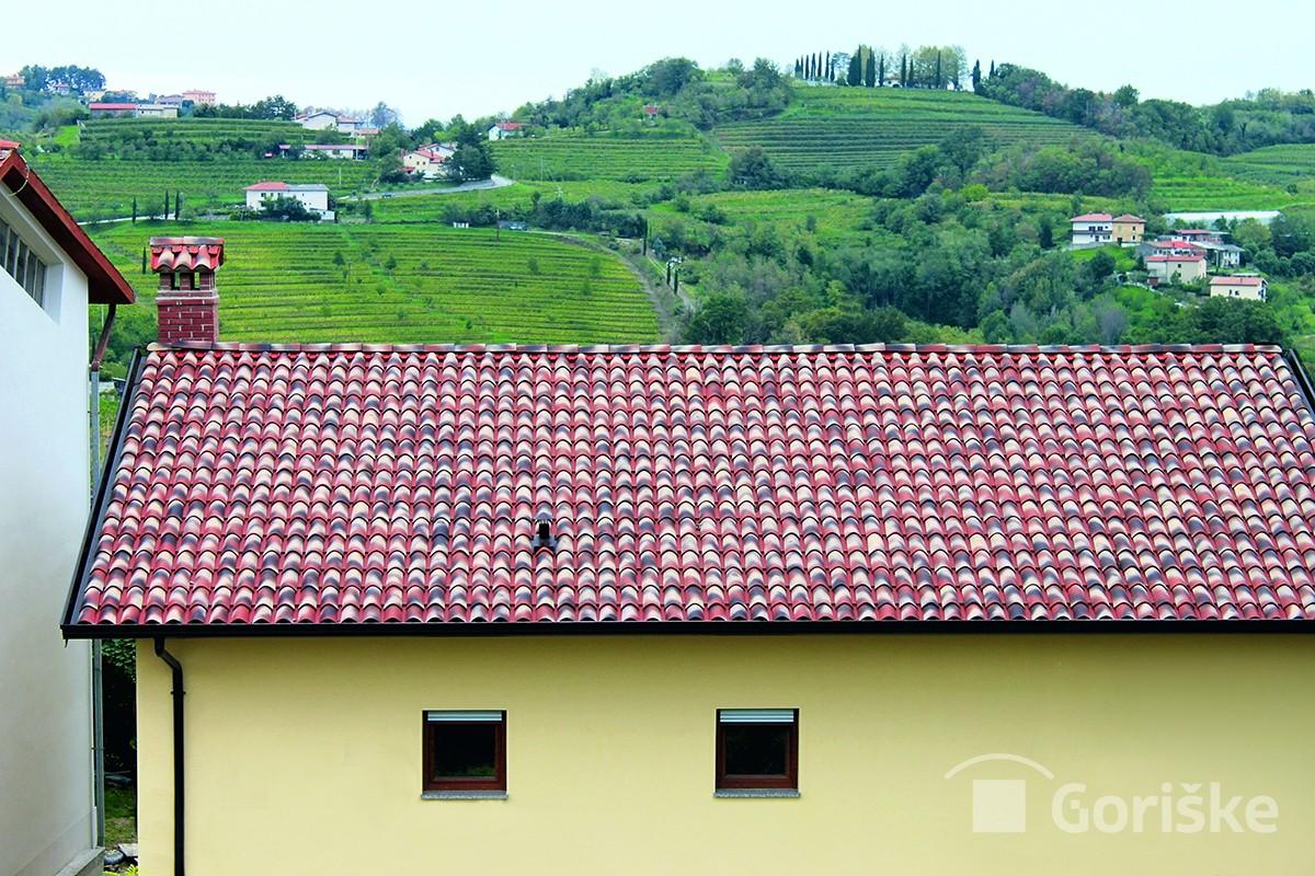 Goriška brda - Hum - Primorska type of clay roof tiles